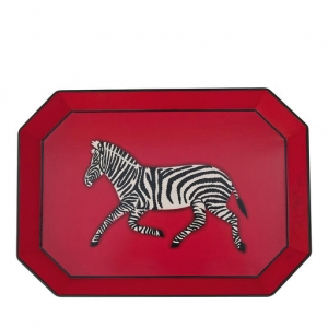 Zebra Red Iron tray