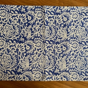 Block printed placemat