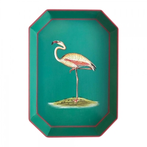 Pink Flamingo Iron Tray