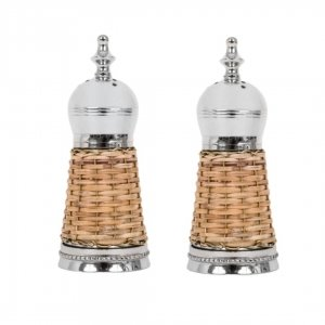 Woven Salt and Pepper Shakers