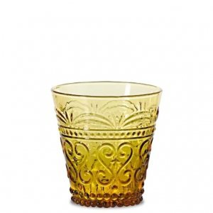 SET OF 6 PROVENZALE CONE TUMBLERS IN AMBER