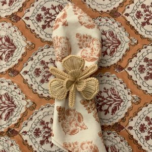 hand block printed brown napkin