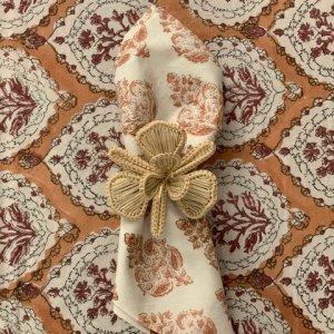 hand block printed brown napkin