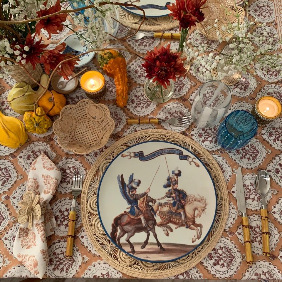 Tablescape ottoman Autumn