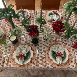 Xmas tablesetting with a tropical twist