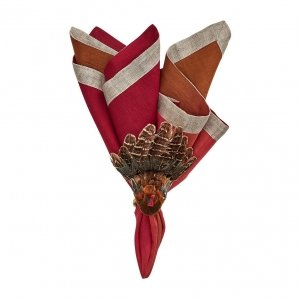 cranberry and orange napkin