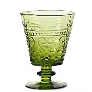 Apple green water goblets