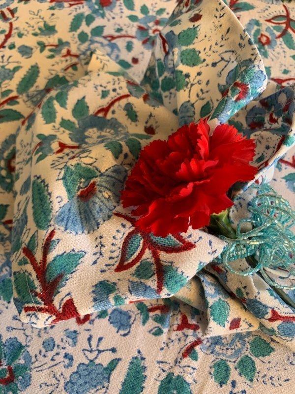 Set of 6 Slate Blue Marigold Napkins