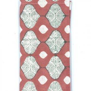 hand-block printed pink napkin