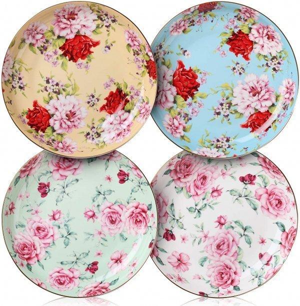 Roses Desset Plates
