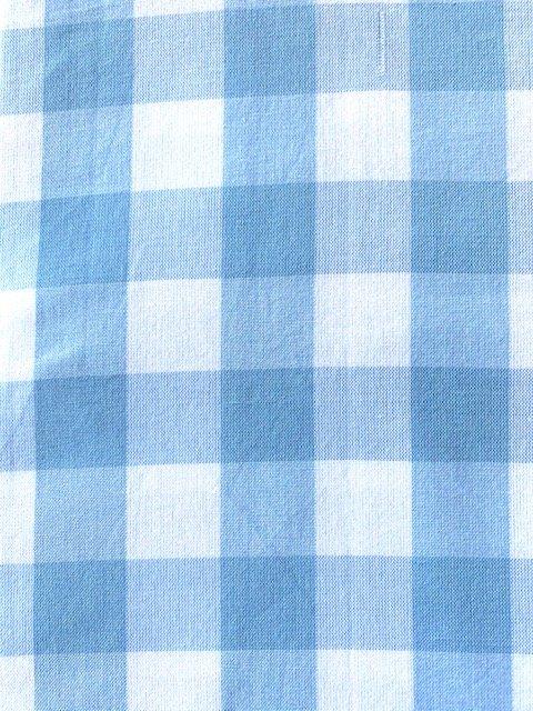 Gingham Tablecloth light blue