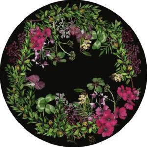Black Botanica fiberglass PLACEMATS . set of 4
