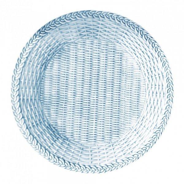 SET OF 4 GARDEN CERAMIC PLATE Blue