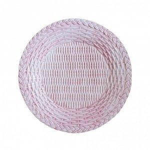 SET OF 4 VIMINI CERAMIC PLATES PINK